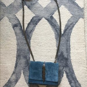 Teal blue clutch